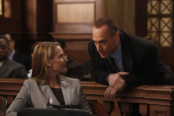Christopher Meloni and Francie Swift in Law & Order: Special Victims Unit (1999)