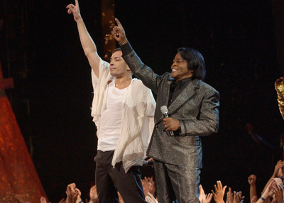 James Brown and Jimmy Fallon