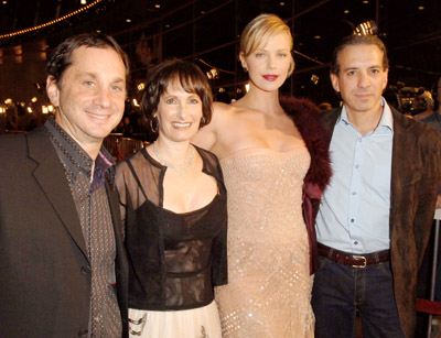 Charlize Theron, Gale Anne Hurd, David Gale, and Van Toffler at Æon Flux (2005)