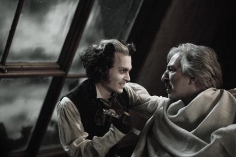 Johnny Depp and Alan Rickman in Sweeney Todd: The Demon Barber of Fleet Street (2007)