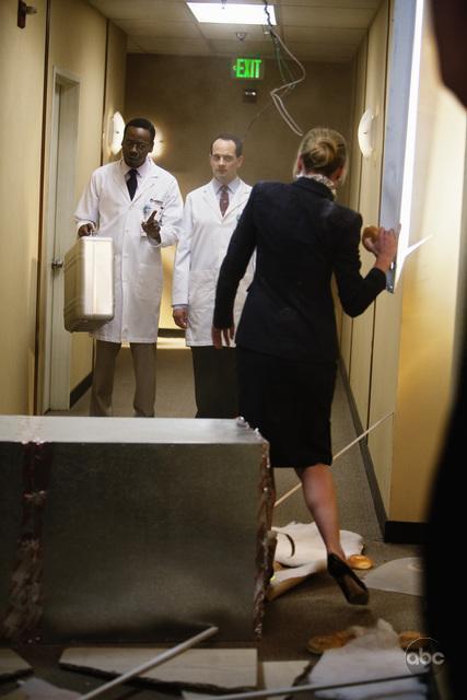 Portia de Rossi, Malcolm Barrett, and Jonathan Slavin in Better Off Ted (2009)