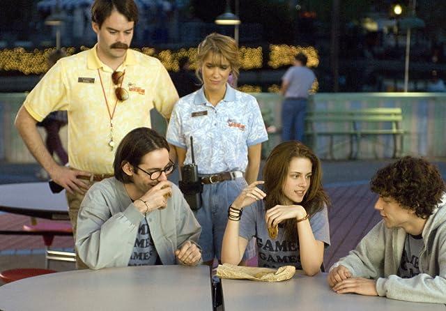 Jesse Eisenberg, Bill Hader, Martin Starr, Kristen Stewart, and Kristen Wiig in Adventureland (2009)