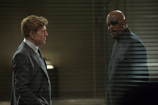 Samuel L. Jackson and Robert Redford in Captain America: The Winter Soldier (2014)