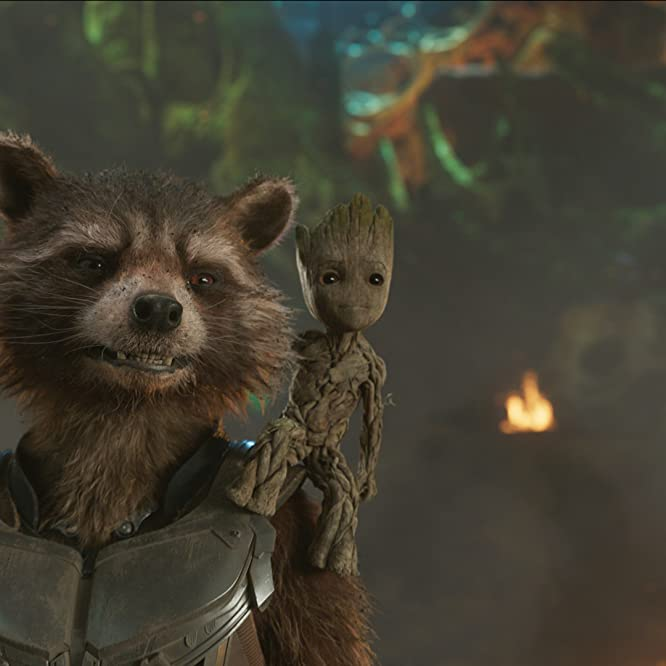 Vin Diesel and Bradley Cooper in Guardians of the Galaxy Vol. 2 (2017)