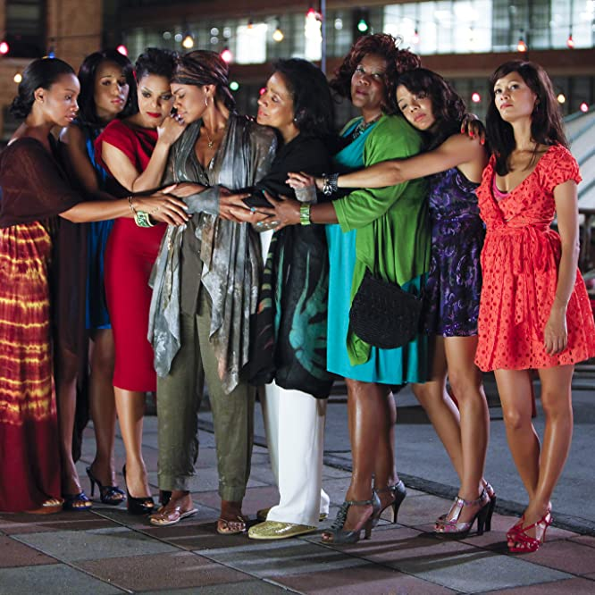 Janet Jackson, Loretta Devine, Kimberly Elise, Thandie Newton, Phylicia Rashad, Anika Noni Rose, Kerry Washington, and Tessa Thompson in For Colored Girls (2010)
