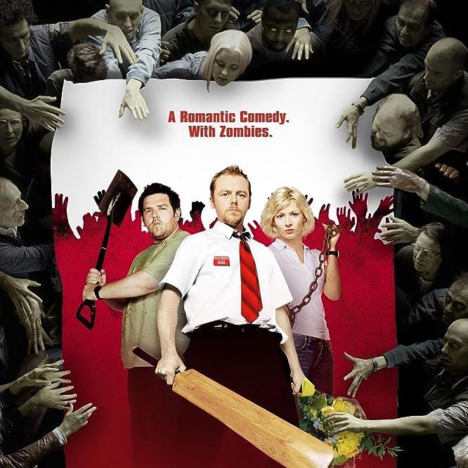 Kate Ashfield, Nick Frost y Simon Pegg en Shaun of the Dead (2004)