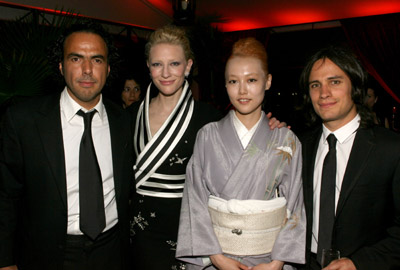 Cate Blanchett, Gael García Bernal, Alejandro G. Iñárritu, and Rinko Kikuchi at Babel (2006)