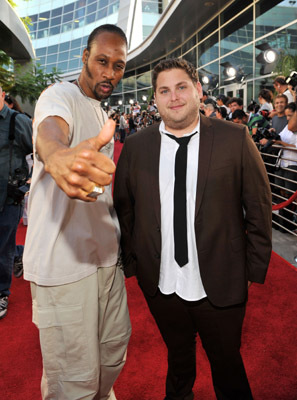 RZA and Jonah Hill at Funny People (2009)