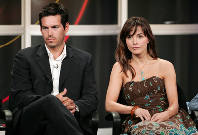 Eddie Cibrian and Lisa Sheridan at an event for Invasion (2005)