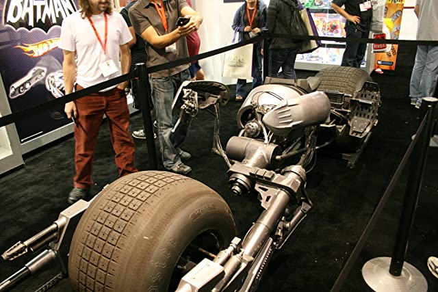 Dark Knight vehicle in Mattel booth
