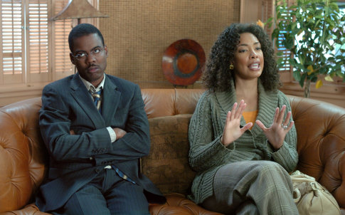 Chris Rock and Gina Torres in I Think I Love My Wife (2007)