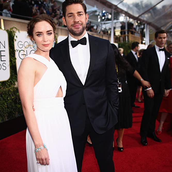 John Krasinski and Emily Blunt at an event for 72nd Golden Globe Awards (2015)