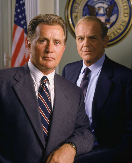 Martin Sheen and John Spencer in The West Wing (1999)