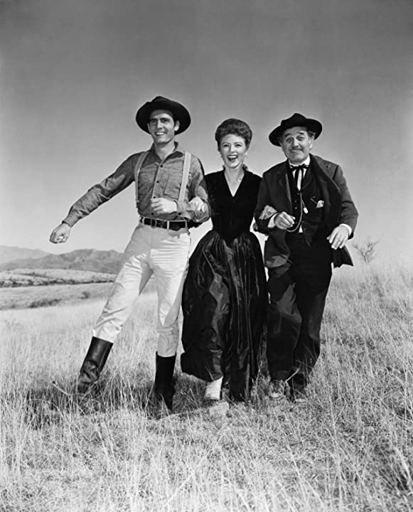 Amanda Blake, Milburn Stone, and Dennis Weaver in Gunsmoke (1955)