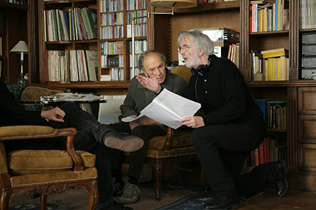 Jean-Louis Trintignant and Michael Haneke in Amour (2012)