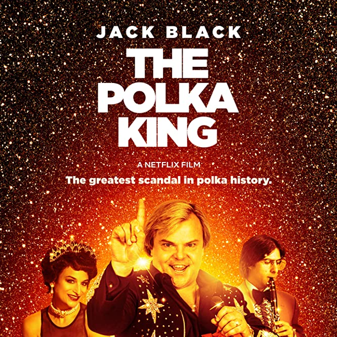 Jason Schwartzman, Jack Black, and Jenny Slate in The Polka King (2017)