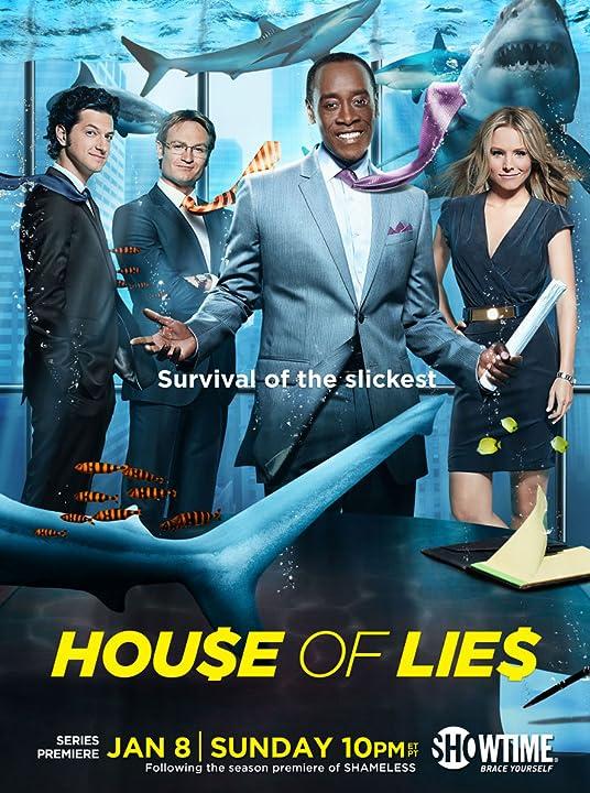 Don Cheadle, Kristen Bell, Josh Lawson, and Ben Schwartz in House of Lies (2012)