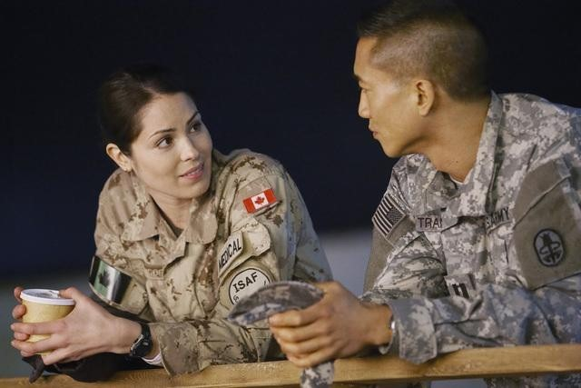 Terry Chen and Michelle Borth in Combat Hospital (2011)