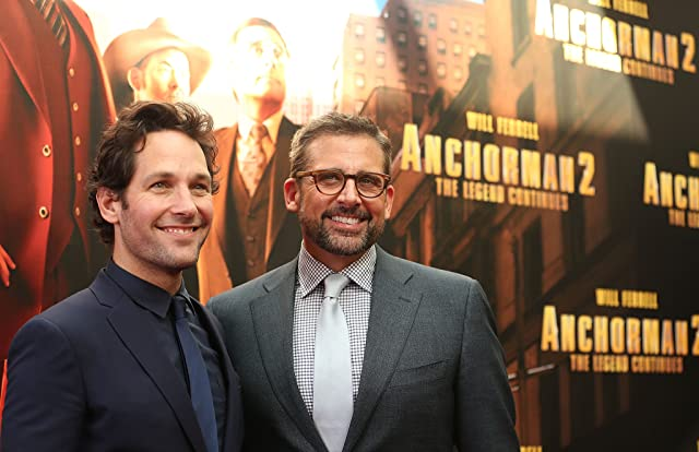 Steve Carell and Paul Rudd at an event for Anchorman 2: The Legend Continues (2013)