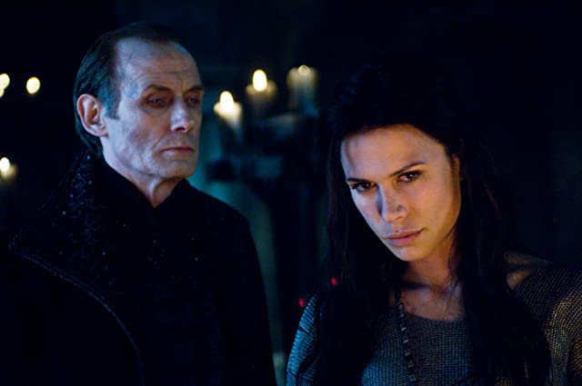 Rhona Mitra and Bill Nighy in Underworld: Rise of the Lycans (2009)