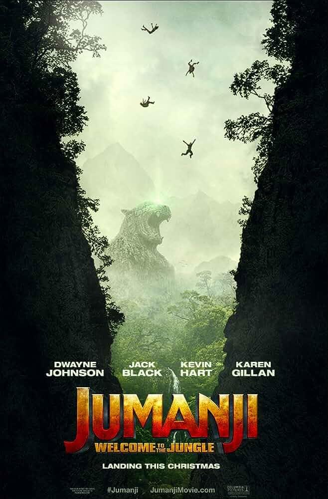 Jumanji Welcome to the Jungle 2017 Hindi Dual Audio 480p CAMRip 300MB
