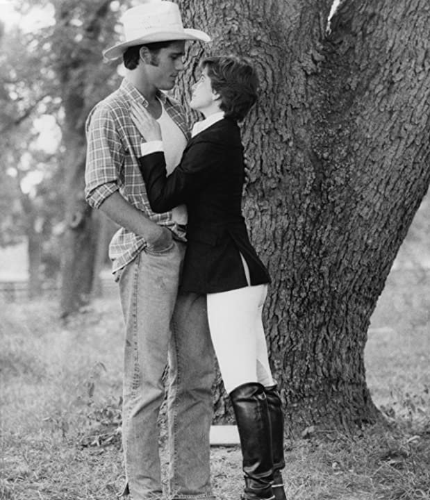 Melissa Gilbert and Michael Schoeffling in Sylvester (1985)