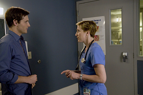 Peter Facinelli and Edie Falco in Nurse Jackie (2009)