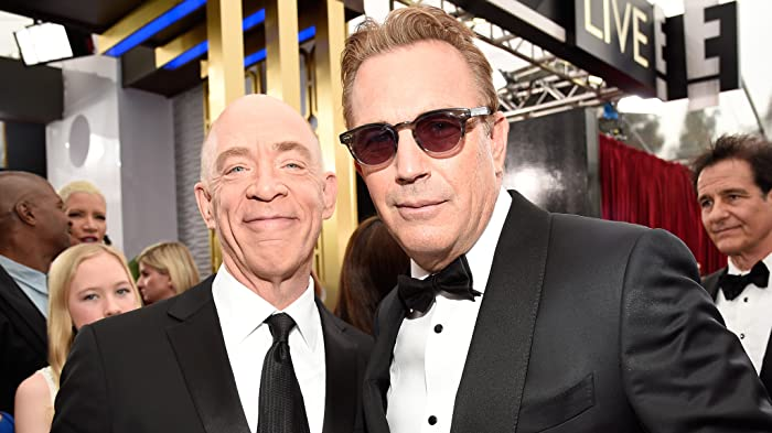 Kevin Costner and J.K. Simmons at The 21st Annual Screen Actors Guild Awards (2015)