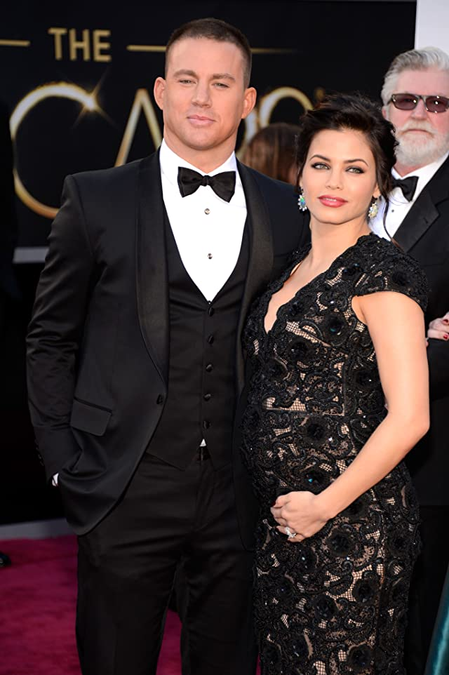Channing Tatum and Jenna Dewan Tatum at event of The 85th Annual Academy Awards