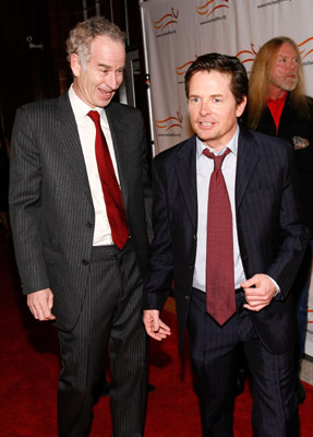 Michael J. Fox and John McEnroe