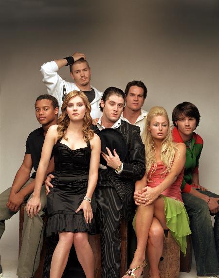 Jon Abrahams, Elisha Cuthbert, Paris Hilton, Chad Michael Murray, Jared Padalecki, Robert Ri'chard, and Brian Van Holt in House of Wax (2005)