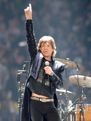Mick Jagger and The Rolling Stones at Super Bowl XL (2006)