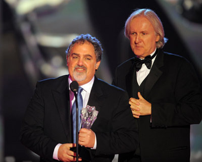 James Cameron and Jon Landau at 15th Annual Critics' Choice Movie Awards (2010)