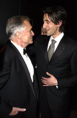 Adrien Brody and Hugh M. Hefner