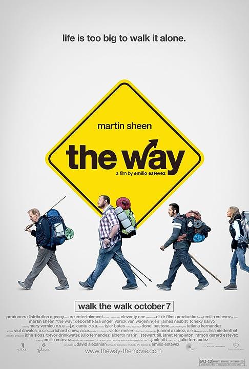 Emilio Estevez, Martin Sheen, Deborah Kara Unger, and Yorick van Wageningen in The Way (2010)