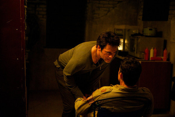 Billy Burke and Isaiah LaBorde in Revolution (2012)