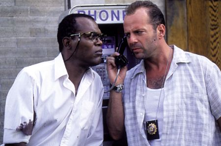 Samuel L. Jackson and Bruce Willis in Die Hard with a Vengeance (1995)