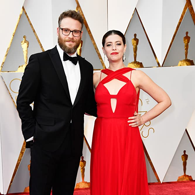 Seth Rogen and Lauren Miller at an event for The Oscars (2017)