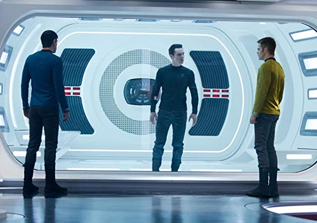 Zachary Quinto, Benedict Cumberbatch, and Chris Pine in Star Trek Into Darkness (2013)