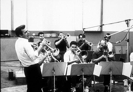 Bobby Darin at a recording session, circa 1960.