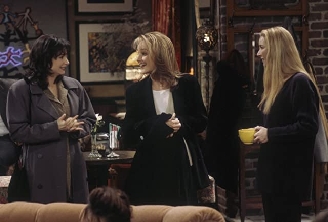 Helen Hunt, Lisa Kudrow, and Leila Kenzle in Friends (1994)