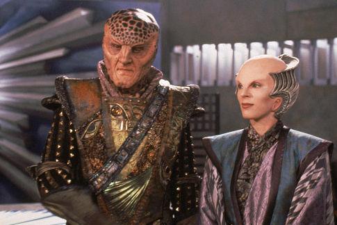 Mira Furlan and Andreas Katsulas in Babylon 5 (1994)