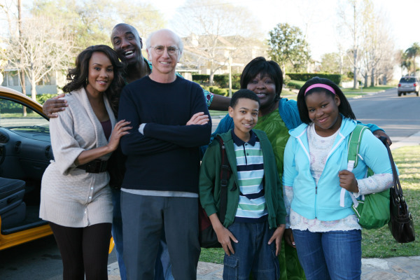 Vivica A. Fox, Larry David, J.B. Smoove, and Nick Nervies in Curb Your Enthusiasm (2000)