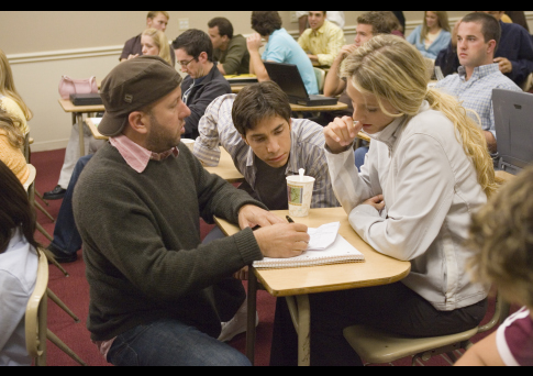Blake Lively, Justin Long, and Steve Pink in Accepted (2006)