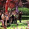 Johnny Depp, James Fox, Adam Godley, Freddie Highmore, David Kelly, Missi Pyle, AnnaSophia Robb, Julia Winter, Jordan Fry, and Philip Wiegratz in Charlie and the Chocolate Factory (2005)