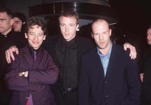 Dexter Fletcher, Guy Ritchie, and Jason Statham at Lock, Stock and Two Smoking Barrels (1998)