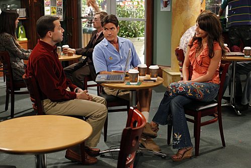 Charlie Sheen, Jon Cryer, and Emmanuelle Vaugier in Two and a Half Men (2003)