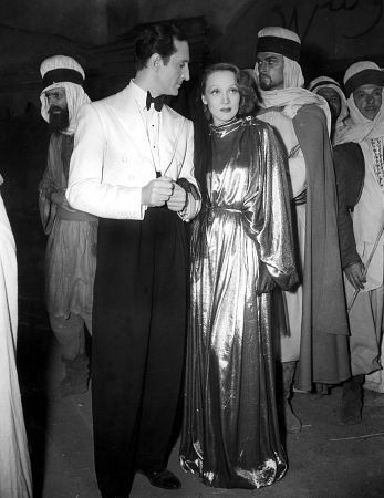 Marlene Dietrich, Basil Rathbone, GARDEN OF ALLAH, THE, United Artists, 1936, **I.V.