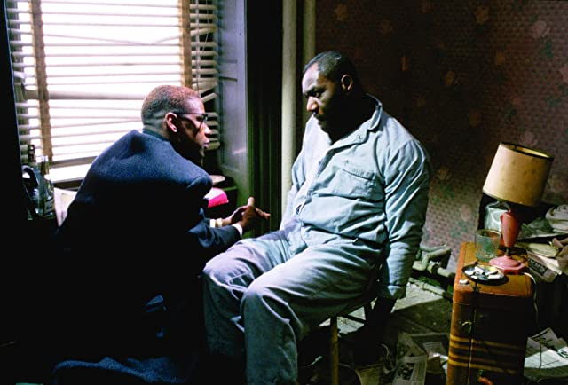 Denzel Washington and Delroy Lindo in Malcolm X (1992)