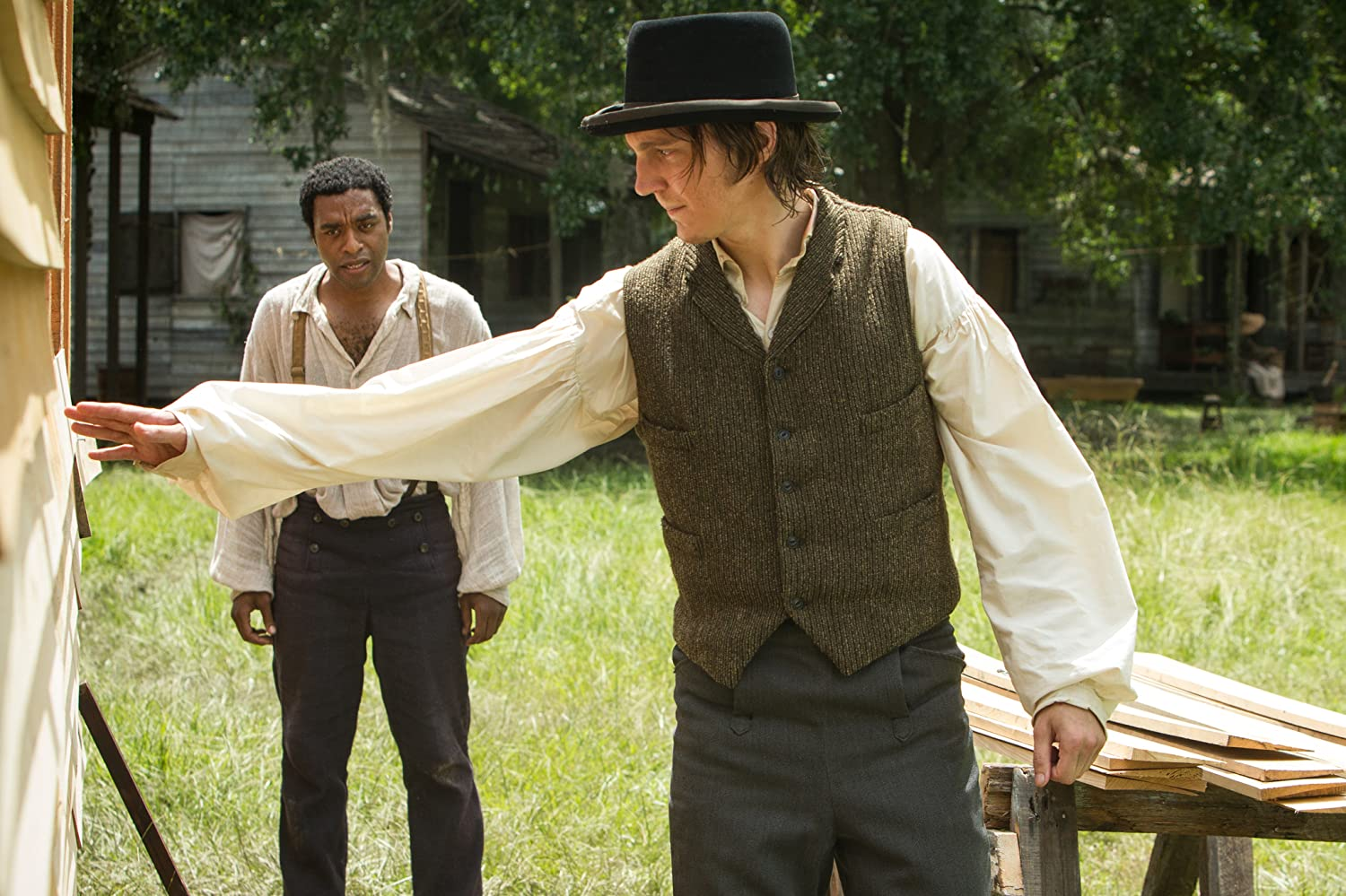 Paul Dano and Chiwetel Ejiofor in 12 Years a Slave (2013)